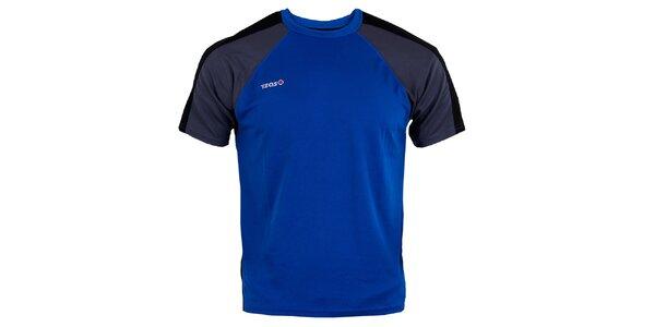 Pánske modro-čierno-šedé bežecké tričko Izas