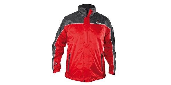 Pánska červeno-šedá funkčná bunda Izas