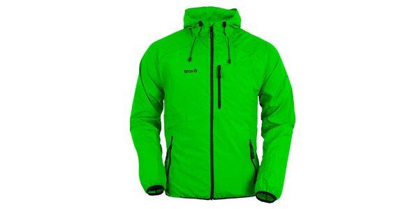 Pánska svetlo zelená bunda s kapucňou Izas