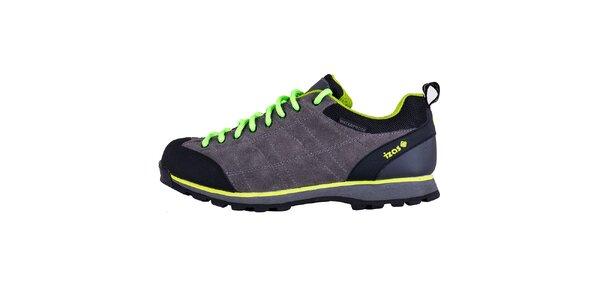 Dámske šedé topánky s kontrastnými prvkami Izas