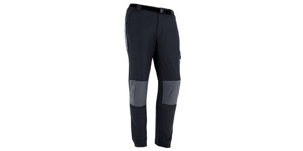 Pánske čierno-šedé outdoorové nohavice s opaskom Izas