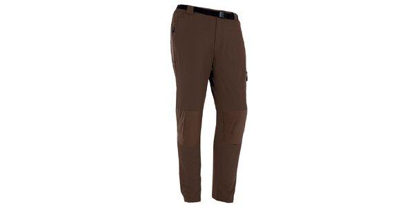 Pánske hnedé outdoorové nohavice s opaskom Izas