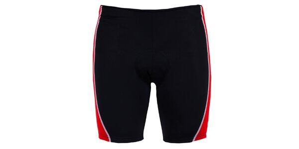 Pánske čierno-červené cyklistické šortky Izas