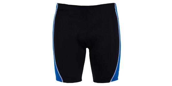 Pánske čierno-modré cyklistické šortky Izas