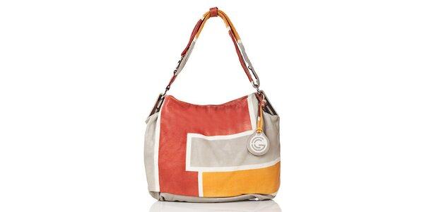 Dámska viacfarebná kožená kabelka Gianni Conti