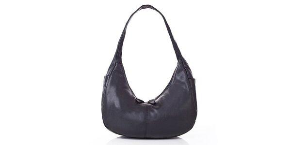 Dámska čierna kabelka z kože Gianni Conti