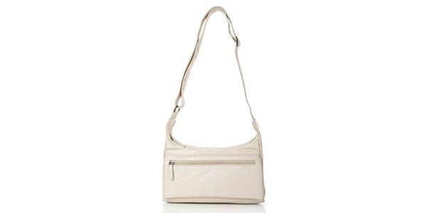 Dámska béžová kabelka z kože Gianni Conti