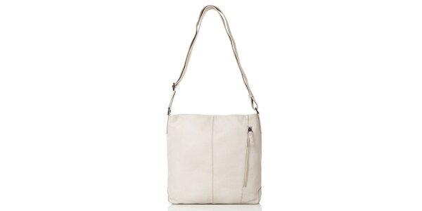 Dámska kožená kabelka v béžovej farbe Gianni Conti