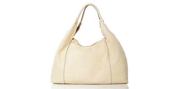 Dámska svetlá kožená kabelka Gianni Conti