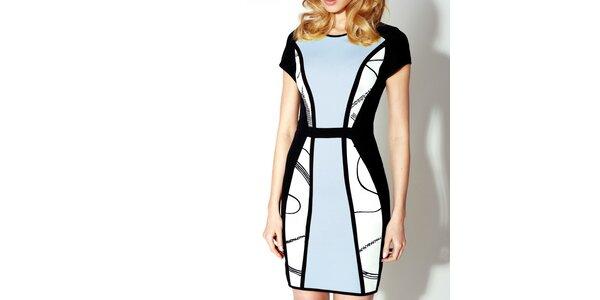 Dámske čierno-modré šaty Rylko