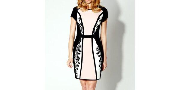 Dámske čierno-ružové šaty Rylko