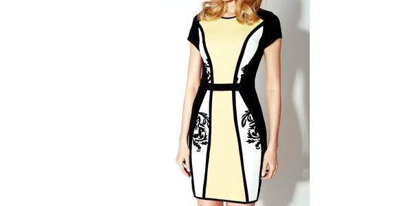 Dámske čierno-žlté šaty Rylko