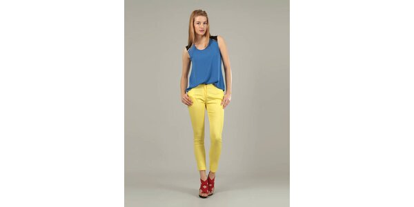 Dámske žlté nohavice Jubylee