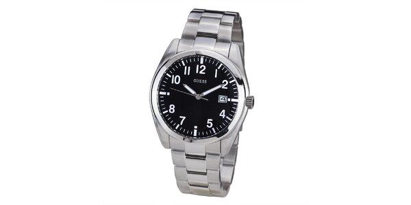 Pánske hodinky s čiernym ciferníkom Guess