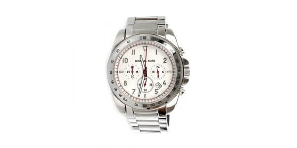 Pánske oceľové hodinky striebornej Michael Kors
