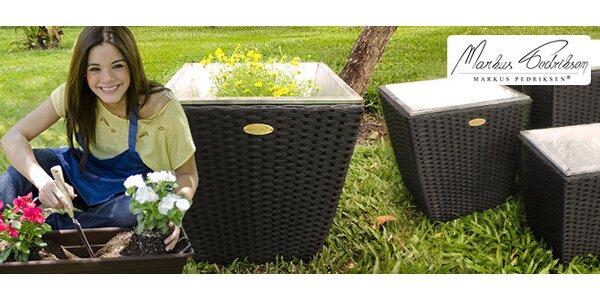 Nový model kvetináčov z umelého ratanu