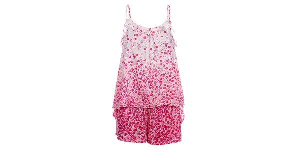Dámske ružové pyžamo DKNY s potlačou