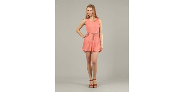 Dámske ružové plisované šaty Jubylee