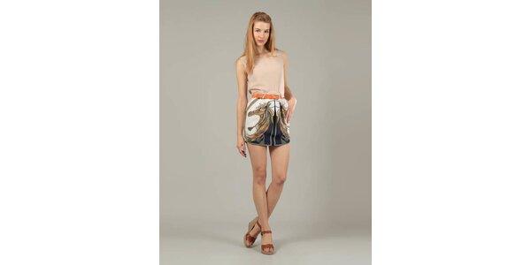 Dámske staroružové šaty Jubylee s potlačou