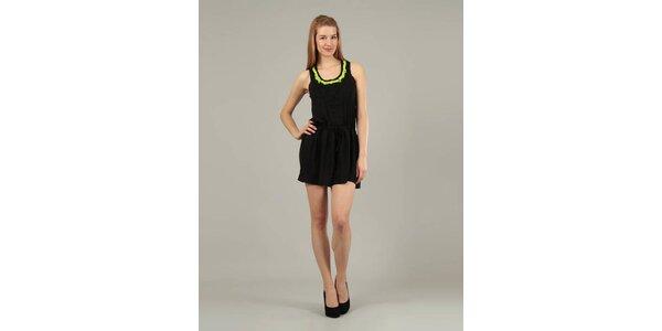 Dámske čierne šaty Jubylee s výšivkou