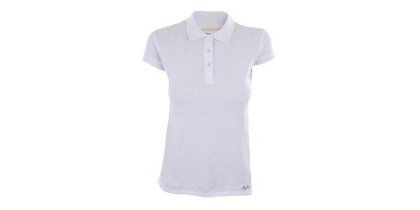 Dámske biele polo tričko z bavlny Big Star
