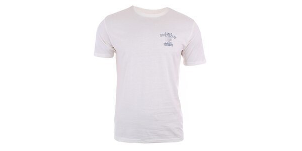 Pánske krémovo biele tričko s krátkym rukávom Big Star