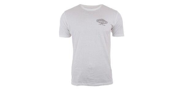 Pánske bavlnené tričko v krémovo bielej farbe Big Star
