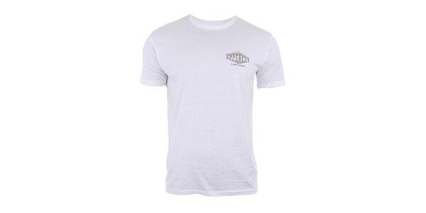 Pánske bavlnené tričko v bielej farbe Big Star
