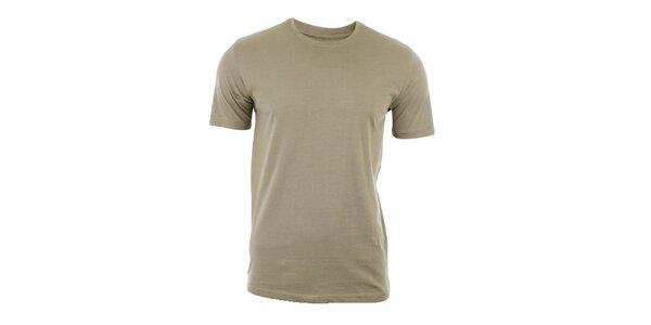 Pánske šedohnedé tričko s krátkym rukávom Big Star