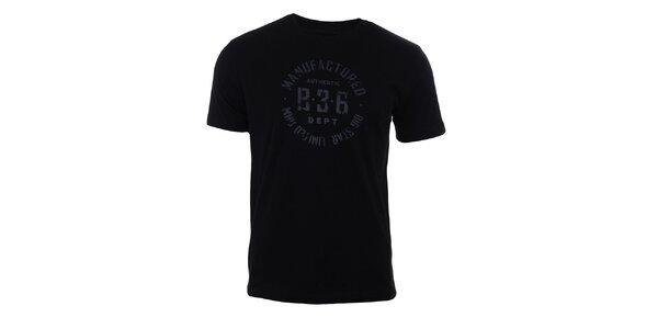 Pánske čierne tričko s potlačou Big Star