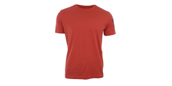 Pánske tehlovo oranžové tričko s krátkym rukávom Big Star