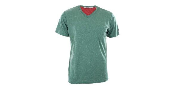Pánske zelené tričko s vreckom Big Star