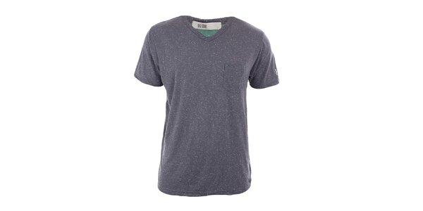 Pánske šedé tričko s vreckom Big Star