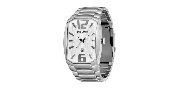 Pánske ocelové hodinky s podlhovastým ciferníkom Police