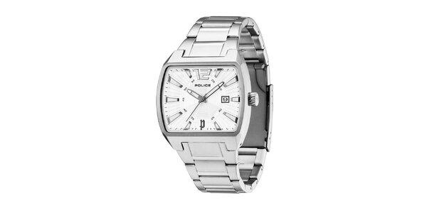 Pánske ocelové hodinky s bielym ciferníkom Police