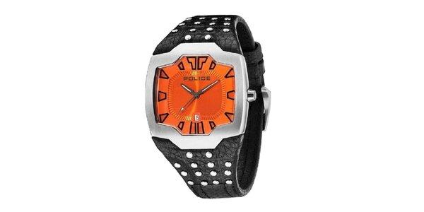 Pánske hodinky s ocvočkovaným remienkom Police