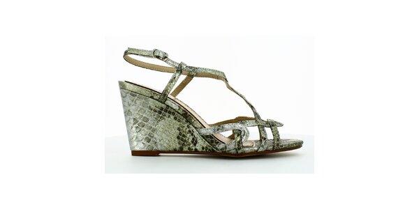 Dámske remienkové sandálky s hadím vzorom Shoes and the City