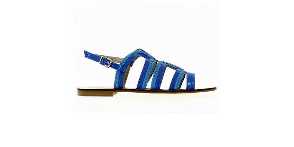 Dámske modré remienkové sandále Shoes and the City
