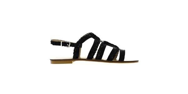 Dámske čierne remienkové sandále Shoes and the City