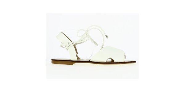 Dámske biele sandále so šnúrkou Shoes and the City