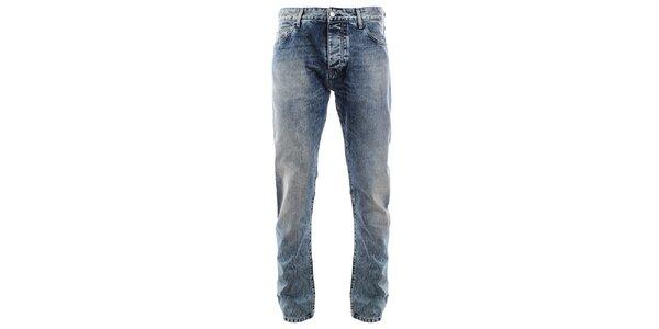 Pánske vintage modré džínsy s vyšúchaním Big Star