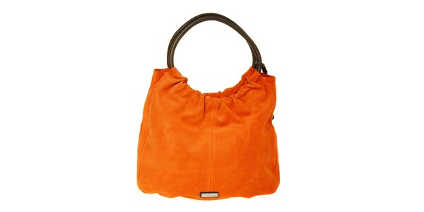 Dámska oranžová semišová kabelka Puntotres