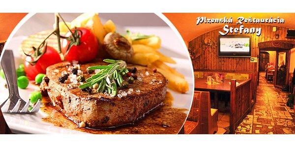 Austrálsky Chuck Tender steak s prílohou