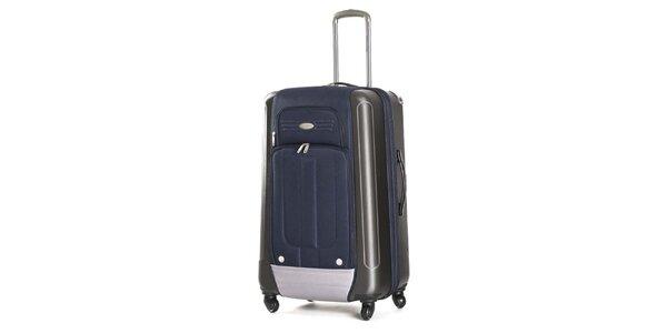 Veľký modrý kufor s kolieskami Ravizzoni