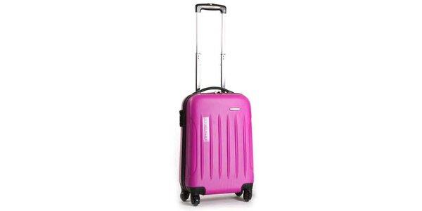 Menší pevný ružový kufor Ravizzoni
