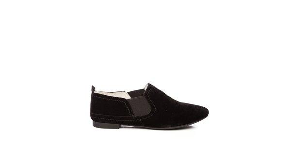 Dámske nízke čierne topánky Keddo