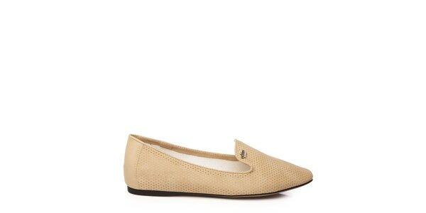 Dámske béžové loafers Keddo
