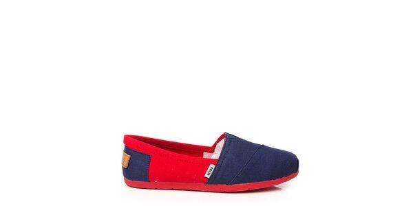 Dámske modro-červené esperadilky Keddo
