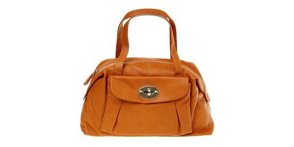 Dámska orieškovo hnedá semišová kabelka Puntotres