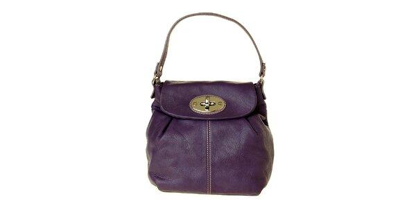 Dámska malá fialová kožená kabelka Puntotres